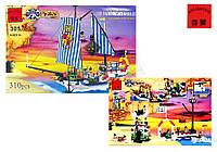 Конструктор детский 310 деталей Пиратский корабль Brick 305