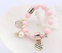 """Женский браслет в стиле Chanel """"Розовый"""""""