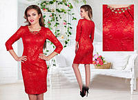 Женское платье с украшением, фото 1