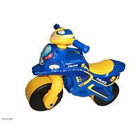 Каталка толокар детский Мотоцикл полиция пластмассовый двухколесный Орион 0139/570