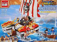 Конструктор для детей 464 деталей Пираты BRICK 1312