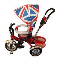 Детский трехколесный велосипед с надувными колесами и поворотным сиденьем BRITANICA TURBO TRIKE M 3114-2A