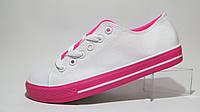 Кеды подростковые L&H белые с розовым р.38,40,41