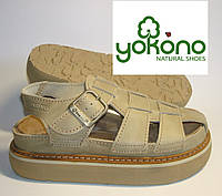 Сандалии кожаные  мужские  Yokono (040)