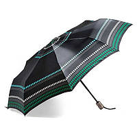 Зонт женский Doppler 74665GFGG18-2 полный автомат Чёрно-зелёный
