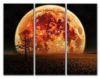 "Настенные модульные часы ""Земля"""