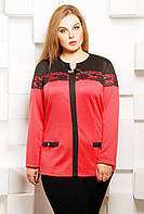 Нежная женская блуза с выполнена из высококачественного французского трикотажа с ажурным кружевом 52-54 р 52