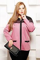 Нежная женская блуза с выполнена из высококачественного французского трикотажа с ажурным кружевом 52 р