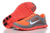 "Кроссовки Nike Free Run 4.0 V3 ""Grey/Orange"", фото 1"