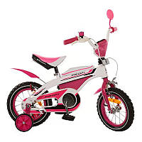 Детский велосипед PROFI 12д 12BX405-2 kross, бело-розовый
