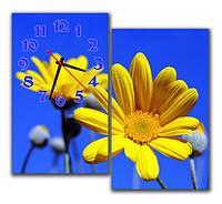 "Настенные модульные картина-часы ""Цветок на небе"""