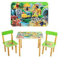 Деревянный комплект стол и 2 стула 501-19