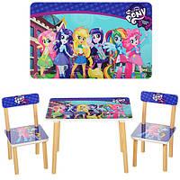 Комплект стол и 2 стула 501-9 my little pony