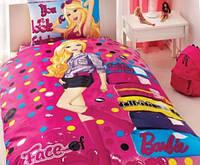 Подростковое постельное белье TAC  DISNEY простынь на резинке BARBIE FACE Of FASHION