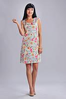 Платье шелковое с цветочным принтом