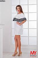 Женское летнее платье с кружевами 48-54