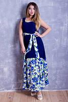 Платье норма женское цветы, фото 1
