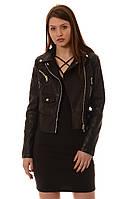 Куртка косуха женская кожаная