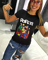 "Женская стильнячая футболка ""Popeye"", 2 цвета"