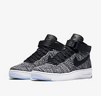 "Кроссовки Nike Air Force 1 Ultra Flyknit ""Black/Grey"", фото 1"