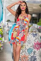 Летнее платье с абстрактным принтом