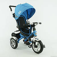 Велосипед детский трехколесный, Бест Трайк 5388, Best Trike надувные колеса синий