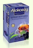 Чай Alokozay (Алокозай) черный цейлонский чай С АРОМАТОМ ЧЕРНОЙ СМОРОДИНЫ  25 пакетов