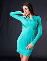 Платье женское с вставками гипбра, фото 1