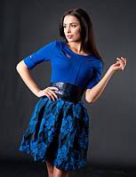 Платье женское ремень батал, фото 1