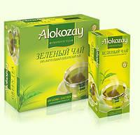 Чай Alokozay (Алокозай) ЗЕЛЕНЫЙ ЦЕЙЛОНСКИЙ ПАКЕТИРОВАННЫЙ 100 пакетиков
