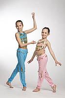 Комплект детский для восточных танцев с брюками
