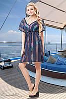 Женская летняя пляжная туника-сетка
