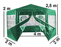 Шатер садовий D 4м, шестигранний намет, палатка садова