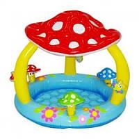 Бассейн Intex гриб-мухомор с надувным полом 102х89см 57407