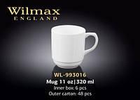 Кружка фарфоровая Wilmax 320 мл (спайка 6 шт.) WL-993016