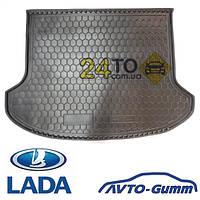 Коврик в багажник для LADA Granta (седан) (без шумоизоляции) (Avto-Gumm), Лада Гранта