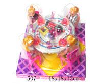Мебель 507 72шт2 для столовой, стол, стулья, посуда, 4 куклы, в кор.181813 см