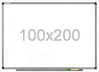 Доска магнитно-маркерная в алюминиевой раме 100х200см