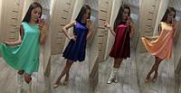 Модное платье из креп-шифона