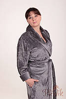 Велюровый халат JASMINE бамбук/хлопок, серый