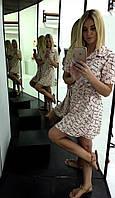 Легкое женское платье персикового цвета