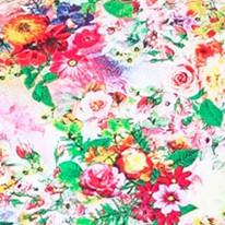 Цвет-1 Летнее женского платья из вискозы с коротким рукавом в цветочек Дженифер