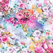 Цвет-2 Летнее женского платья из вискозы с коротким рукавом в цветочек Дженифер