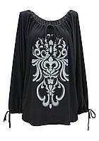 Женская стильная туника-платье с оригинальным принтом/рисунком