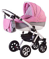 Детская универсальная коляска 2 в 1 ADAMEX Erika Len (Малина(меланж)-серый 90L)