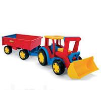 Машинка Трактор Гигант с Прицепом и Ковшом Wader 66300SK