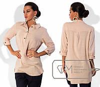 Рубашка-туника женская из льна