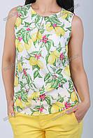 Блузка без рукавов с принтом лимонов D&G