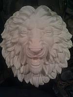 Гипсовый декор. Лев. Маска льва. Гипсовая фигура
