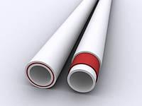 Труба полипропиленовая для горячей воды и отопления FIBER 25 PN20